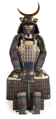 A suit of armor with a russet-iron mogami do Edo period (18th century)