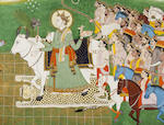 An illustration to a Mahabharata series Kangra, circa 1815-20