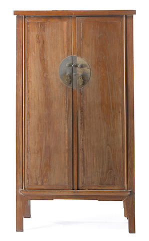 A Ming style softwood tapered cabinet Late Qing/Republic period