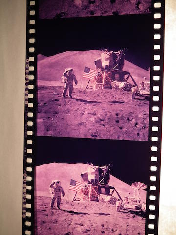 APOLLO 15 HASSELBLAD POSITIVES. Roll of slide film,