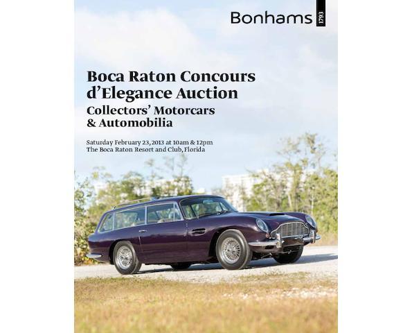 Boca Raton Concours d'Elegance: Collectors' Motor Cars & Automobilia