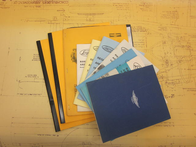 A lot of Lagonda V12 blueprints and assorted club literature.