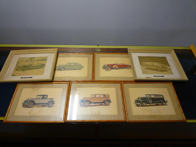 An ensamble of vintage Chrysler dealer prints,