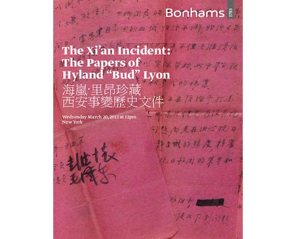"Xi'an Incident: The Papers of Hyland ""Bud"" Lyon"