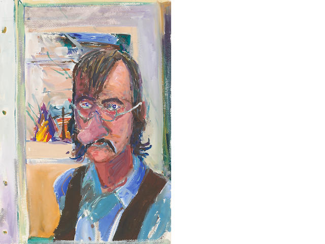 William T. Wiley (born 1937) Self Portrait #1, 1977 20 x 14 1/8in (50.8 x 35.9cm)