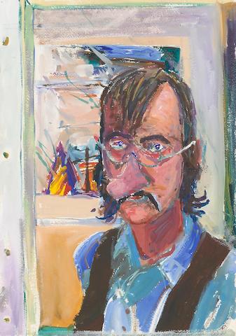 William T. Wiley (born 1937) Self Portrait #1, 1977 20 x 14 1/8in (50.8 x 35.9cm)