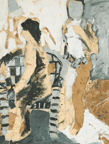 Joan Brown (1938-1990) Untitled, 1961 29 3/4 x 25in (75.6 x 63.5cm)
