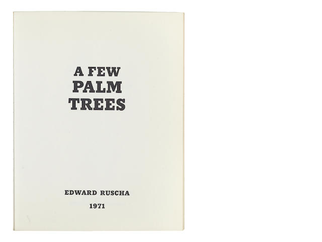 Ed Ruscha (born 1937) A Few Palm Trees, 1971 7 x 5 1/2in (17.8 x 14cm)