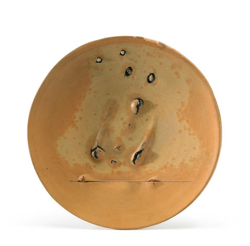 Peter Voulkos (1924-2002) Untitled (Plate), 1973 (CR704.191-G) diameter 19 1/2in (49.5cm)