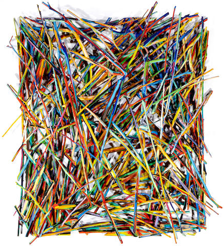 Charles Arnoldi (born 1946) Untitled, 1982 79 x 71 x 10in (200.7 x 180.3 x 25.4cm)
