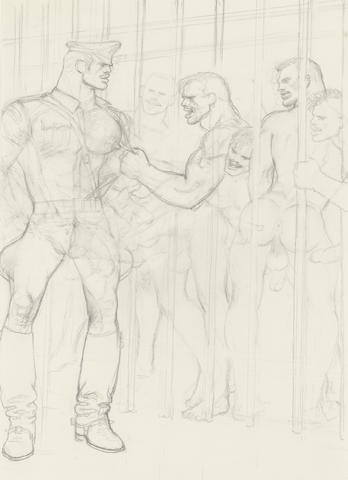 Tom of Finland (1920-1991) Untitled, 1989 11 5/8 x 8 3/8in (29.5 x 21.3cm)