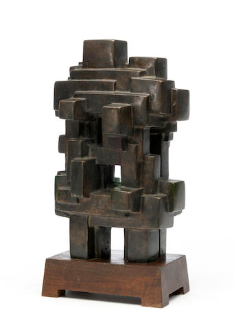 Jacques Schnier (1898-1988) Eternal Sanctuary No. 2, 1965 13 1/8 x 6 3/4 x 5 3/4in (33.3 x 17.1 x 14.6cm)