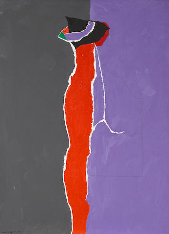 Emerson Woelffer (1914-2003) Jean Dupas, 1971 30 x 22in (76.2 x 55.9cm)