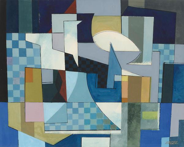 Jules Engel (1909-2003) Untitled 11 1/4 x 13 5/8in (28.6 x 34.6cm)