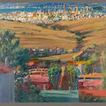 Larry Cohen (born 1952) View of Downtown San Francisco, 2004 32 x 34in (81.2 x 86.3cm)
