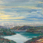 Larry Cohen (born 1952) View of the Hollywood Reservoir, 1991 22 x 22 1/4in (55.9 x 56.5cm)