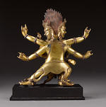 A gilt-bronze group of Hayagriva and consort Tibet, circa 17th century