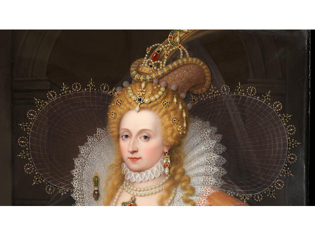 A fine and important enamel portrait of Queen Elizabeth I (1533 - 1603), The Rainbow Portrait <BR />Henry Bone, R.A. (British, 1755-1834)<BR />dated May 1815