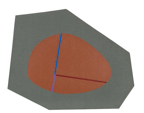 Leo Valledor (1936-1989) Myth Tickle, 1980 irregular 19 x 23 7/8in (48.3 x 60.6cm) unframed