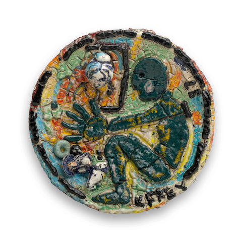 Viola Frey (1933-2004) Untitled, 1987 diameter 26in (66cm)