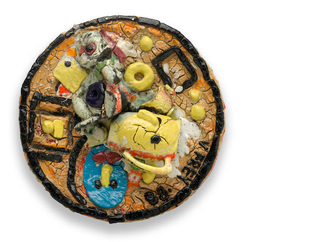 Viola Frey (1933-2004) Untitled, 1988 diameter 25in (63.5cm)