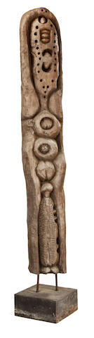 Cyprian Mpho Shilakoe (South African, 1946-1972) Totem 163.2cm (64 1/4in). high