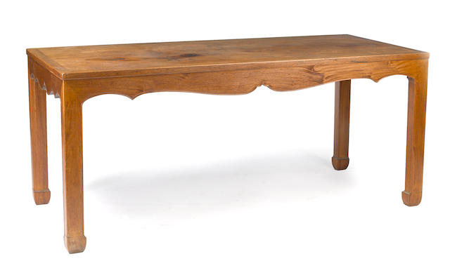 A large hardwood rectangular table Republic period