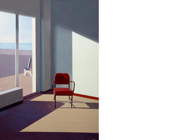 John Register (1939-1996) Purple Chair, 1987 70 x 50in (177.8 x 127cm)