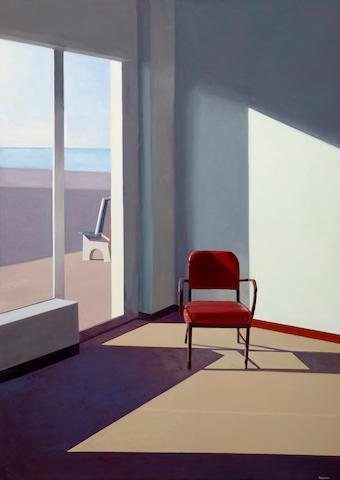 John Register (1939-1996) Purple Chair, 1987 70 x 50in (177.8 x 127cm)