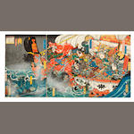 Utagawa School artists<BR />Ten woodblock prints