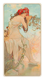 Alphonse Mucha (Czechoslovakian, 1860-1939) Four Seasons, 1896