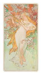 A suite of four lithographs in colors: The Four Seasons comprising Hiver, Printemps, Ete and Automne