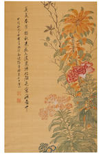 Zhang Xin (c. 1781-1820) Flowers and Rock
