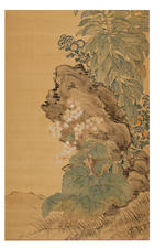 Zhang Xin (c.1781-1820) Autumn Flowers
