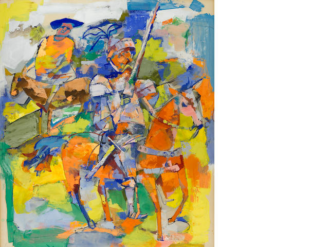 John Altoon (1925-1969) Don Quixote 30 x 25in