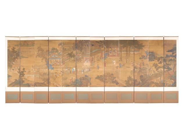After Qiu Ying (c. 1498-c. 1552) Garden Scene