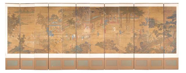 After Qiu Ying (c. 1498-c. 1552) An Elegant Garden Gathering