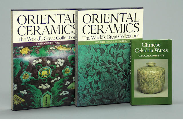 A selection of fourteen books on Asian ceramics