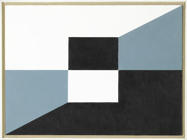 Frederick Hammersley (1919-2009) Same Change, #18, 1960 22 x 30in (55.9 x 76.2cm) <BR />framed 23 3/4 x 31 5/8in (60.3 x 80.3cm)