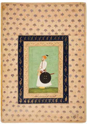 A portrait of Muzaffar Khan Bahadur Jung Deccan, 18th century or earlier