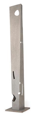 Isamu  Noguchi (1904-1988) Pylon, 1959-81 column: 112 1/4 x 14 1/4 x 13in. (285.1 x 36.2 x 33cm)<BR />base: 20 x 20in. (50.8 x 50.8cm)