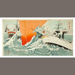 Sino-Japanese war woodblock prints<BR />1894-1895