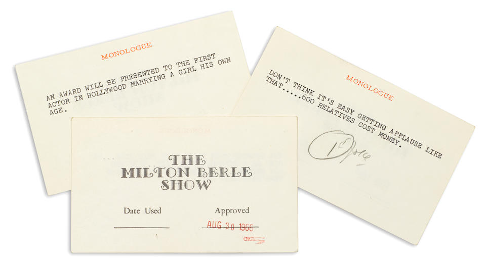 Milton Berle's Joke File