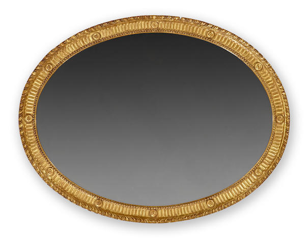 A George III style giltwood mirror <BR />second half 19th century