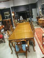 A suite of George I style dining furniture