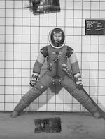 SPACE SUIT DEVELOPMENT PHOTOGRAPHS. Large collection of approximately 99 color and black and white photographs,