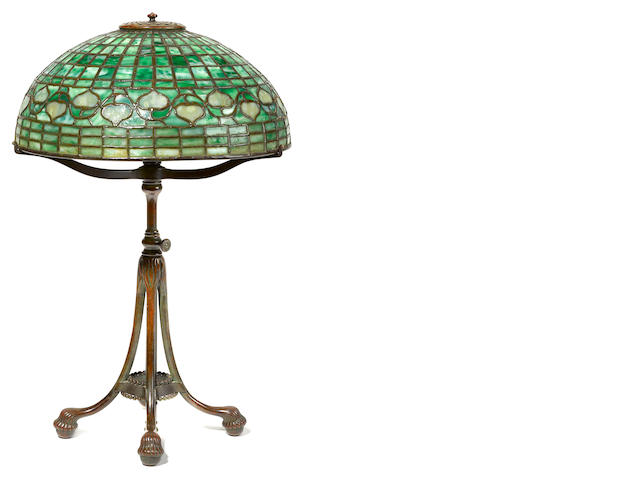 An Acorn Tiffany lamp