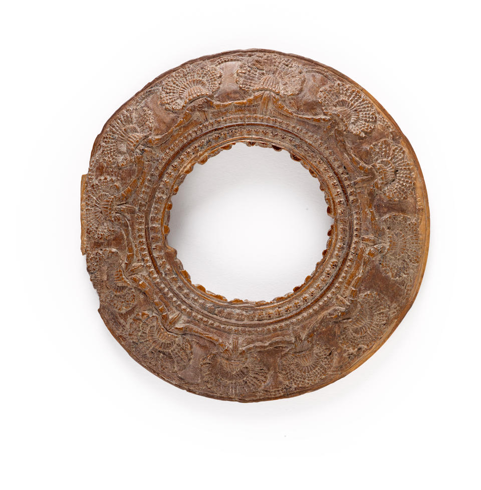 An ivory fertility ringstone North India, Shunga period, 2nd century BCE