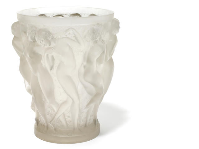 An R. Lalique vase (condition: chips)
