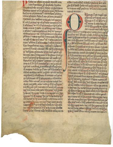 LEAVES— ENGLISH. BALBI, GIOVANNI. ?-c.1298. Latin manuscript on vellum, Catholicon. [England, mid-14th century.]<BR />